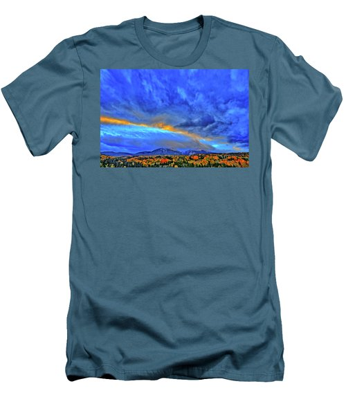 Men's T-Shirt (Slim Fit) featuring the photograph Sky Fall by Scott Mahon