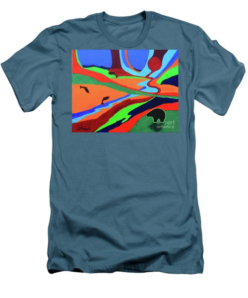 Sky Rivers Men's T-Shirt (Slim Fit) by Jeanette French