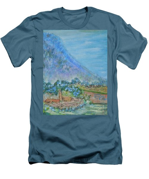 Skyline Drive Begins Men's T-Shirt (Slim Fit) by Judith Espinoza
