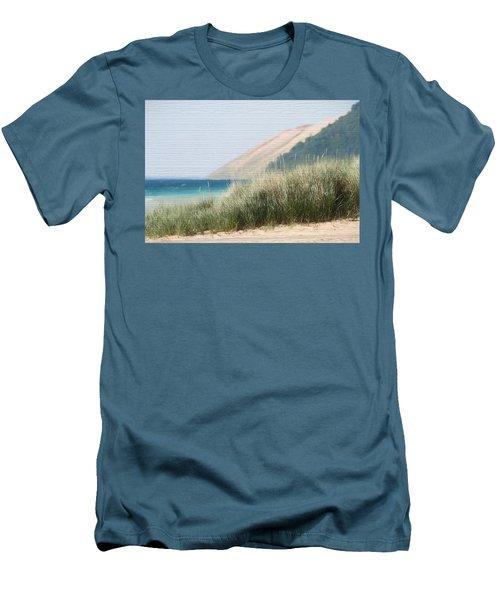 Sleeping Bear Sand Dune Men's T-Shirt (Slim Fit) by Dan Sproul