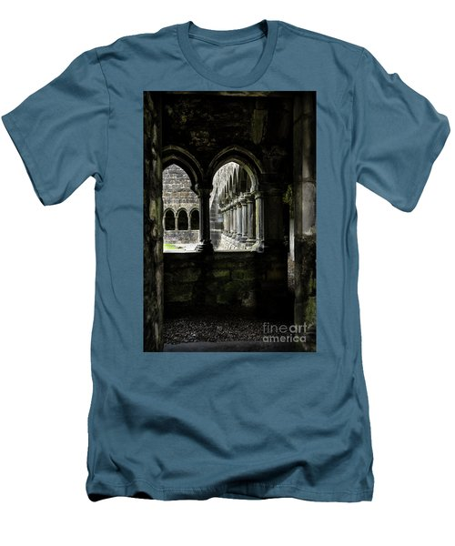 Men's T-Shirt (Slim Fit) featuring the photograph Sligo Abbey Interior by RicardMN Photography