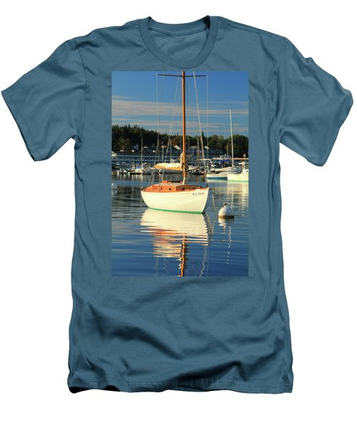 Men's T-Shirt (Slim Fit) featuring the photograph Sloop Reflections by Roupen  Baker
