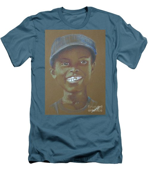 Small Boy, Big Grin -- Retro Portrait Of Black Boy Men's T-Shirt (Athletic Fit)