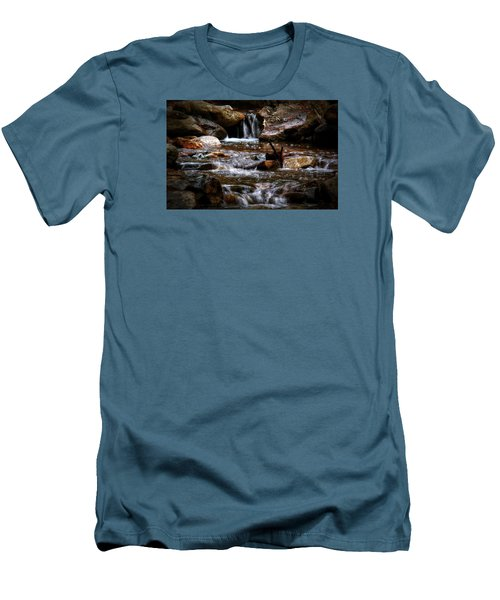 Small Falls Men's T-Shirt (Slim Fit) by Elaine Malott