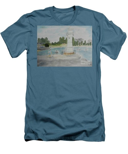 Small Lighthouse One Belmore Basin Men's T-Shirt (Athletic Fit)