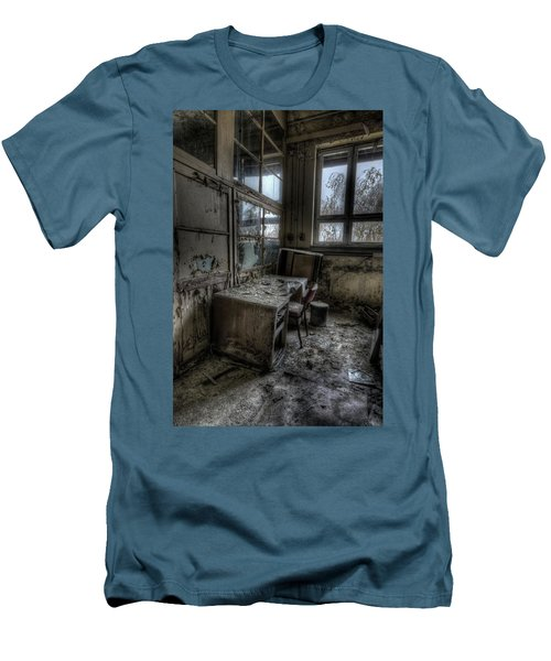 Men's T-Shirt (Slim Fit) featuring the digital art Small Office by Nathan Wright