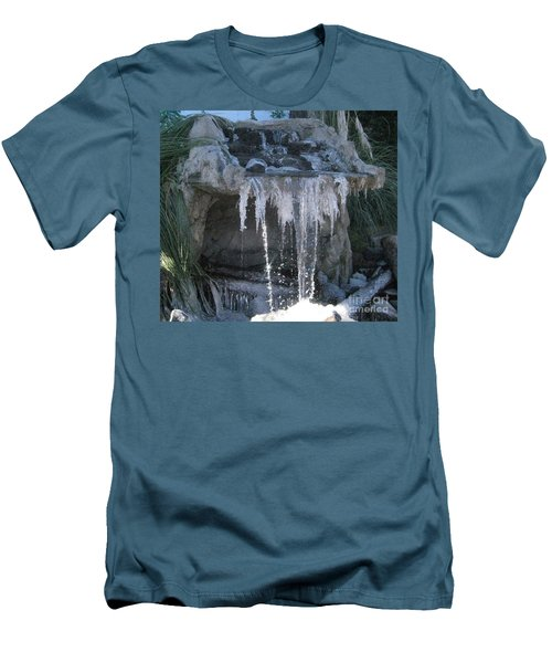 Smokey Stoves Frozen Falls Men's T-Shirt (Slim Fit)