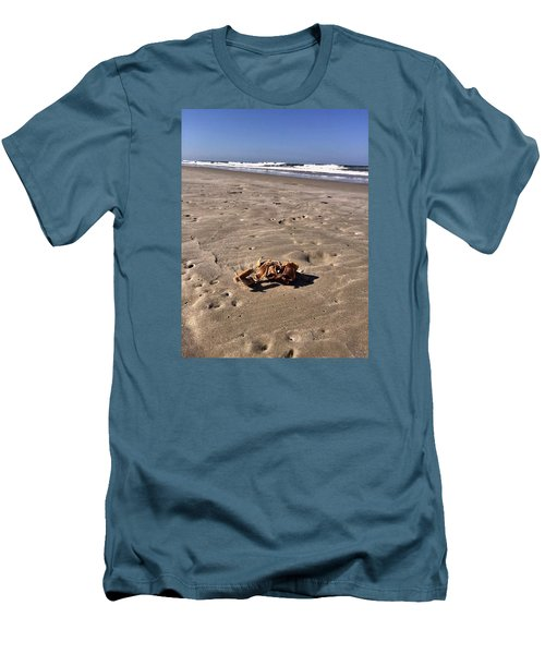 Men's T-Shirt (Slim Fit) featuring the photograph Smoking Kills Crab by Lisa Piper