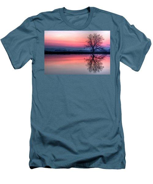 Smoky Sunrise Men's T-Shirt (Slim Fit) by Fiskr Larsen
