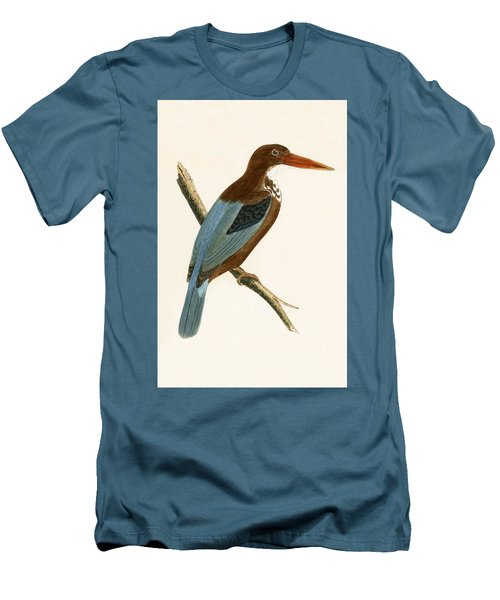 Smyrna Kingfisher Men's T-Shirt (Slim Fit) by English School