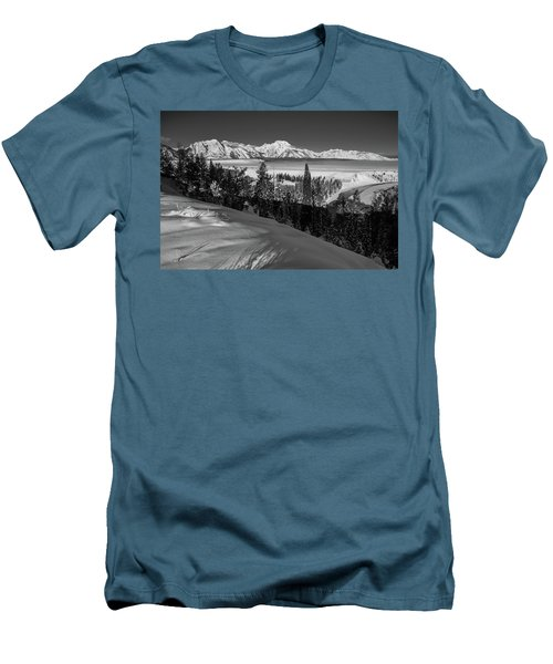 Snake River Overlook-winter Scene 79 Men's T-Shirt (Athletic Fit)