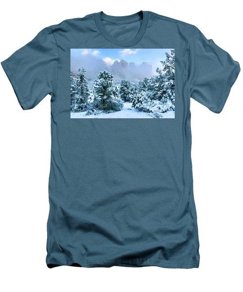 Snow 07-072 Men's T-Shirt (Slim Fit) by Scott McAllister