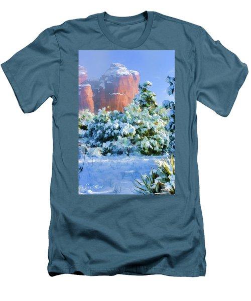 Snow 07-093 Men's T-Shirt (Slim Fit) by Scott McAllister