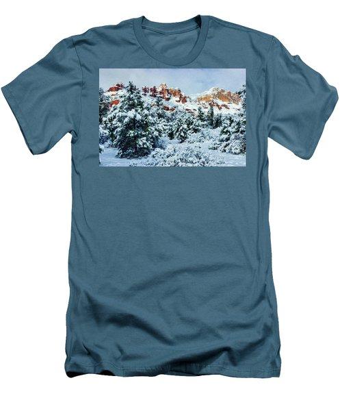 Snow 09-007 Men's T-Shirt (Slim Fit) by Scott McAllister