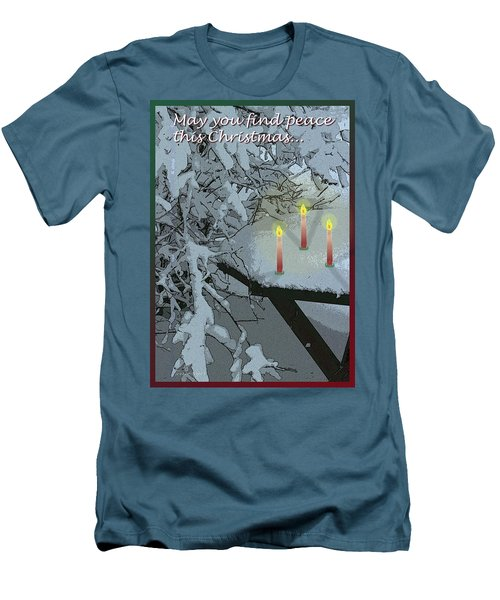 Snow And Candlelight Men's T-Shirt (Athletic Fit)