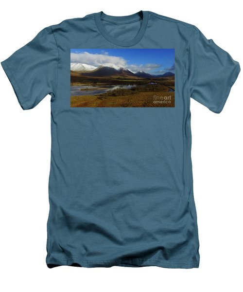 Snow Cap Mountains Men's T-Shirt (Athletic Fit)