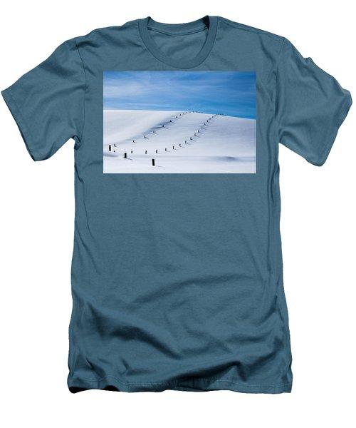 Snow Covered Pasture Men's T-Shirt (Slim Fit) by Sean Allen