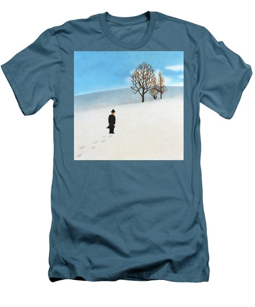 Snow Day Men's T-Shirt (Slim Fit) by Thomas Blood
