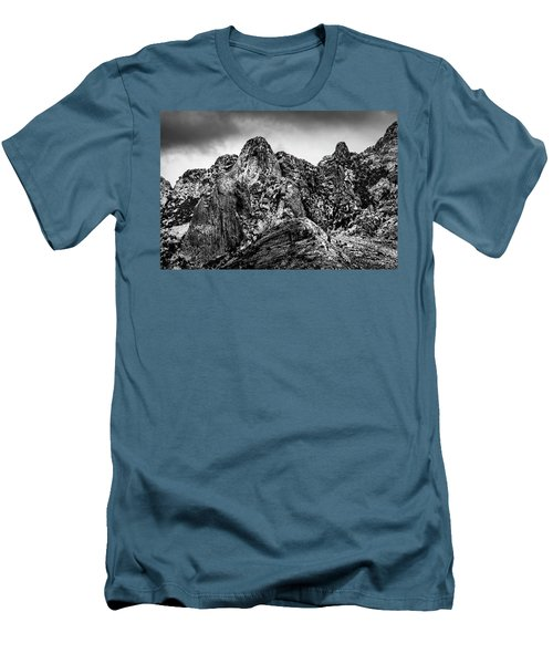 Men's T-Shirt (Athletic Fit) featuring the photograph Snow On Peaks 46 by Mark Myhaver