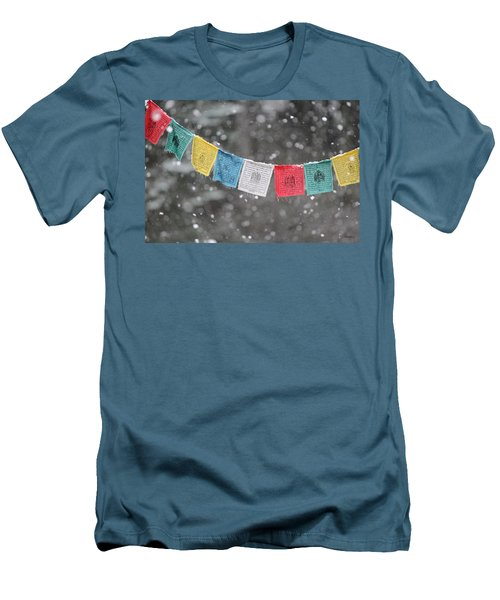Snow Prayers Men's T-Shirt (Athletic Fit)