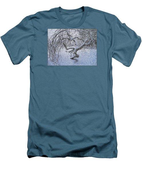 Snowfall Men's T-Shirt (Slim Fit) by Vladimir Kholostykh