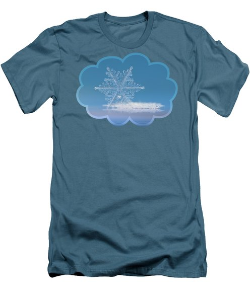Men's T-Shirt (Slim Fit) featuring the photograph Snowflake Photo - Cloud Number Nine by Alexey Kljatov