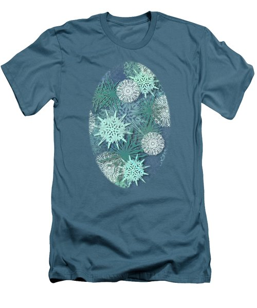 Snowflakes Men's T-Shirt (Slim Fit) by AugenWerk Susann Serfezi