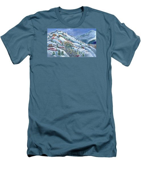 Snowy Mountain Road Men's T-Shirt (Athletic Fit)