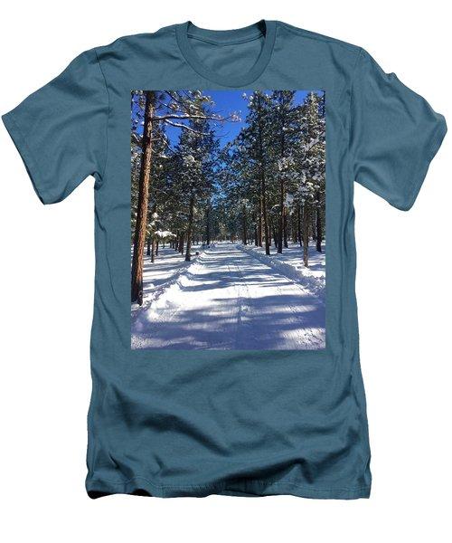Snowy Road Men's T-Shirt (Athletic Fit)