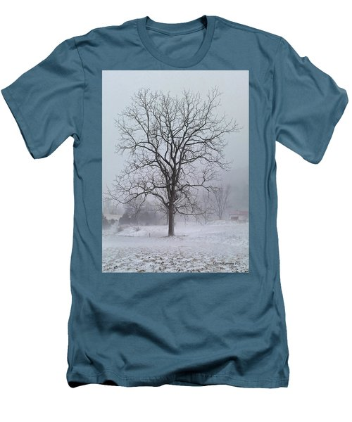 Snowy Walnut Men's T-Shirt (Slim Fit)