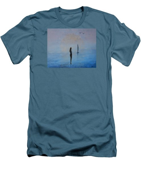 So Close Men's T-Shirt (Slim Fit) by Jane See