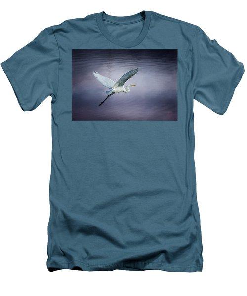 Soaring Egret Men's T-Shirt (Athletic Fit)