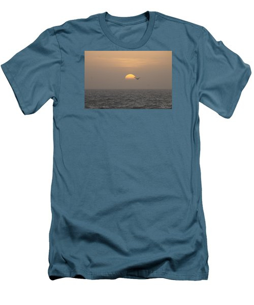 Men's T-Shirt (Slim Fit) featuring the photograph Soaring Through Sunrise by Robert Banach