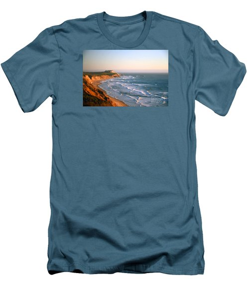 Men's T-Shirt (Slim Fit) featuring the photograph Socal Sunset Ocean Front by Clayton Bruster