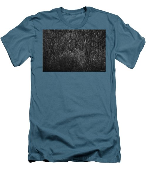 Soft Grass Black And White Men's T-Shirt (Slim Fit) by Glenn Gemmell