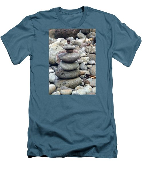 Men's T-Shirt (Slim Fit) featuring the painting Solace by Angela Annas