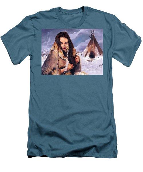 Solitude Men's T-Shirt (Slim Fit) by J W Baker