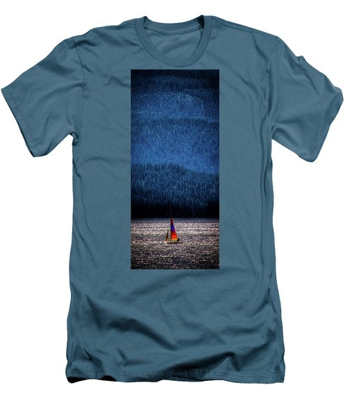 Men's T-Shirt (Slim Fit) featuring the photograph Solitude On Priest Lake by David Patterson