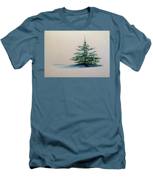 Men's T-Shirt (Slim Fit) featuring the painting Solitude by Wendy Shoults