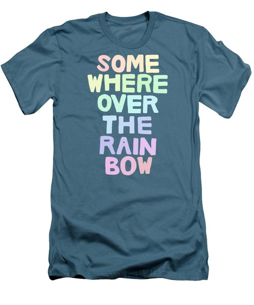 Somewhere Over The Rainbow Men's T-Shirt (Slim Fit) by Priscilla Wolfe