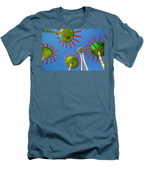 Men's T-Shirt (Slim Fit) featuring the photograph Sonic Bloom In Seattle Center by Adam Romanowicz