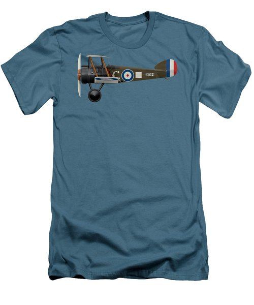 Sopwith Camel - B6344 - Side Profile View Men's T-Shirt (Slim Fit) by Ed Jackson