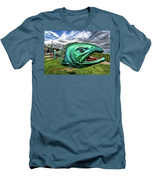 Soul Salmon In Hdr Men's T-Shirt (Slim Fit) by Rob Green
