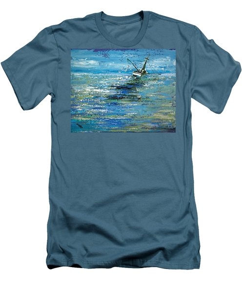 Men's T-Shirt (Slim Fit) featuring the painting Soups On by Suzanne McKee