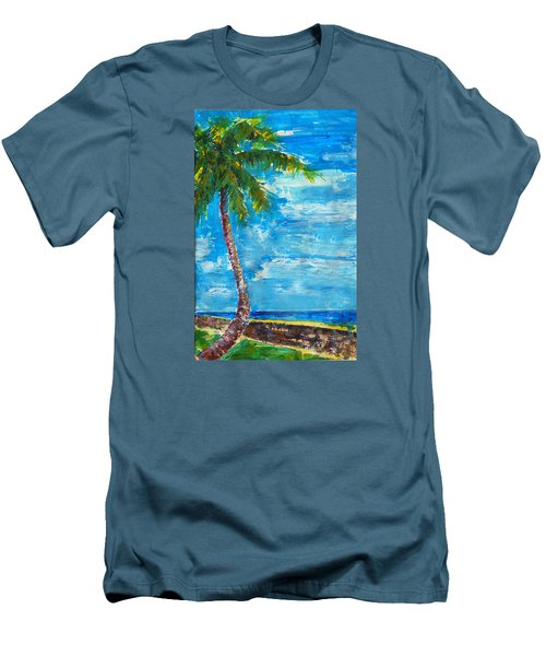 South Beach Wall Men's T-Shirt (Athletic Fit)
