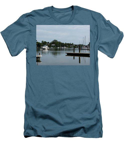 Men's T-Shirt (Slim Fit) featuring the photograph Spa Creek From The Park  by Donald C Morgan