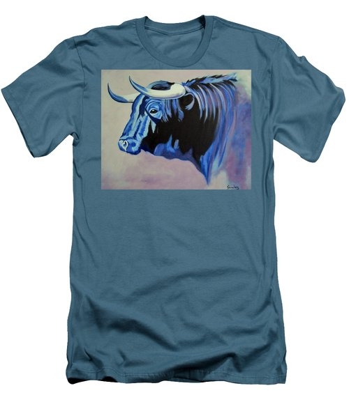 Spanish Bull Men's T-Shirt (Slim Fit) by Manuel Sanchez