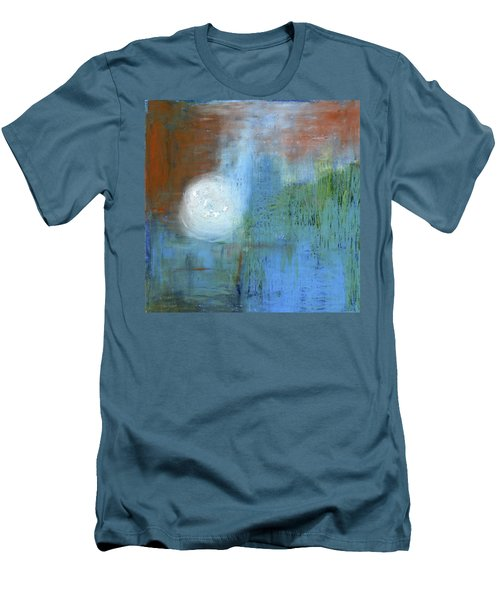 Men's T-Shirt (Slim Fit) featuring the painting Sparkling Sun-rays by Michal Mitak Mahgerefteh