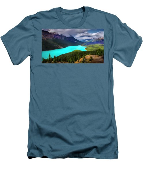 Men's T-Shirt (Slim Fit) featuring the photograph  Spirit Of The Wolf by John Poon