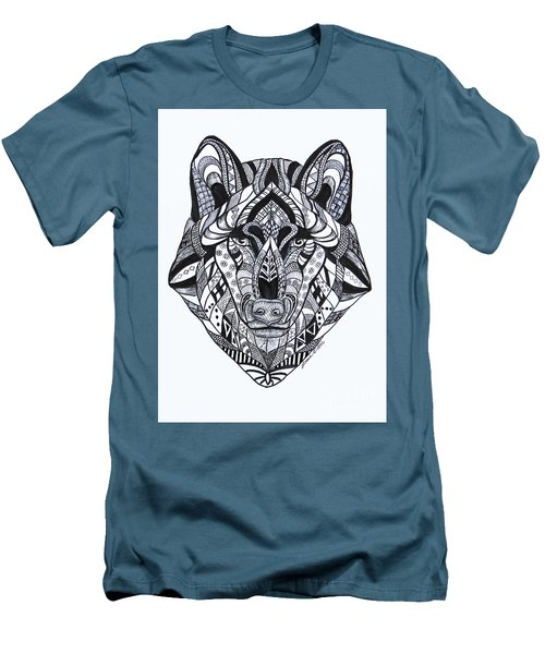 Spirit Wolf Men's T-Shirt (Athletic Fit)